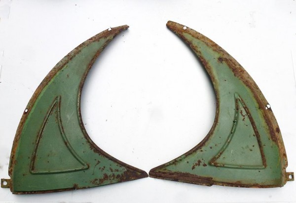 Spritzschutzecken grün, gebraucht 2 St. f. Schutzblech hinten