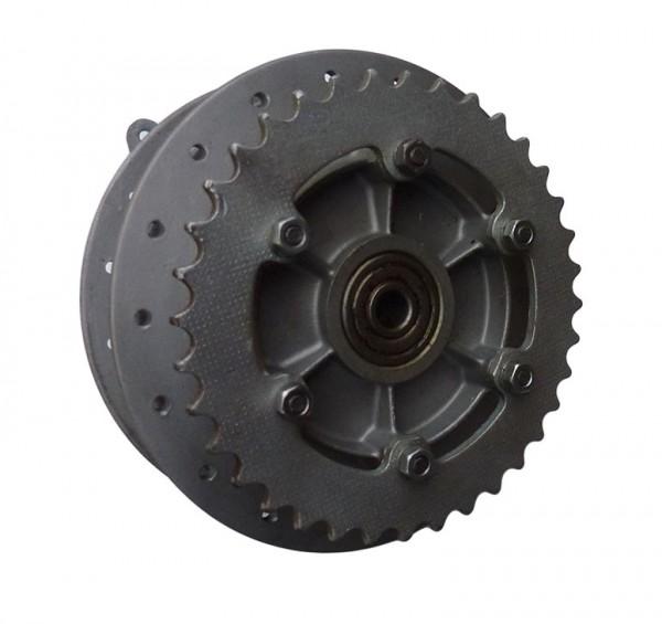 Hinterradnabe F23,m. Bremsplatte, gebraucht